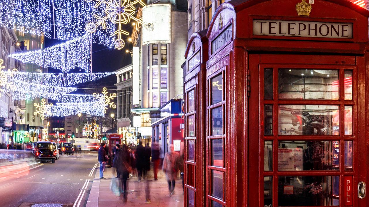 טלפון אדום רחובות לונדון